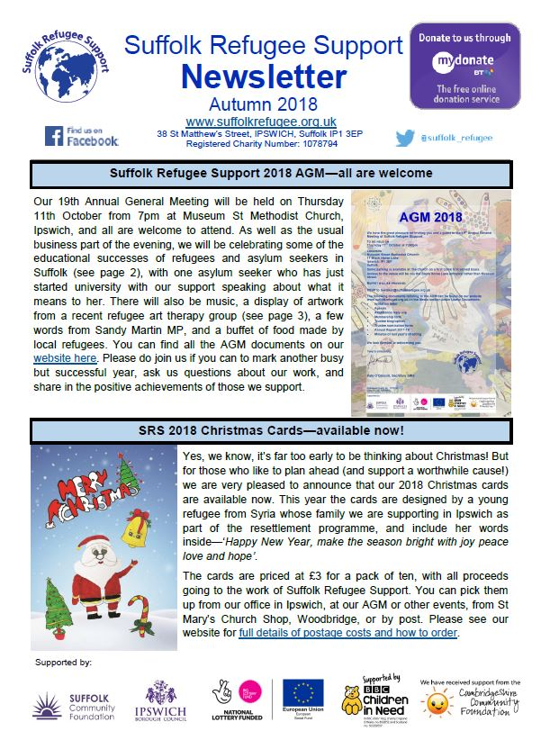 SRS Autumn Newsletter