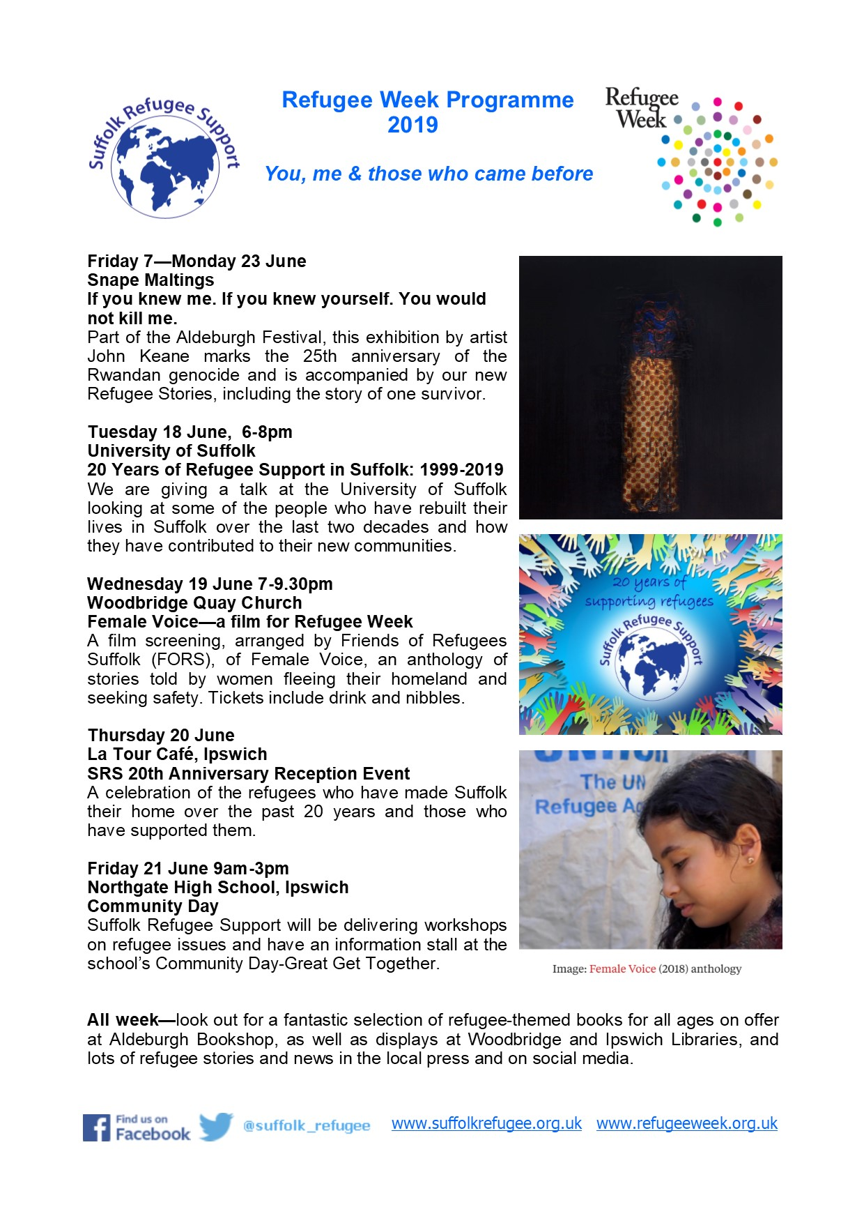 Refugee Week 2019 programme