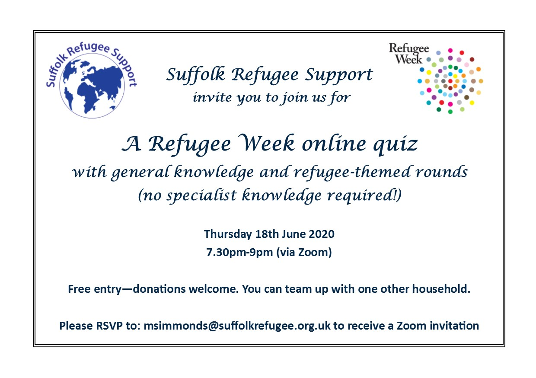 Refugee Week quiz invitation!